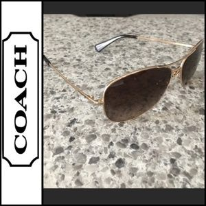 Coach Aviator Sunglasses w/Case VGUC